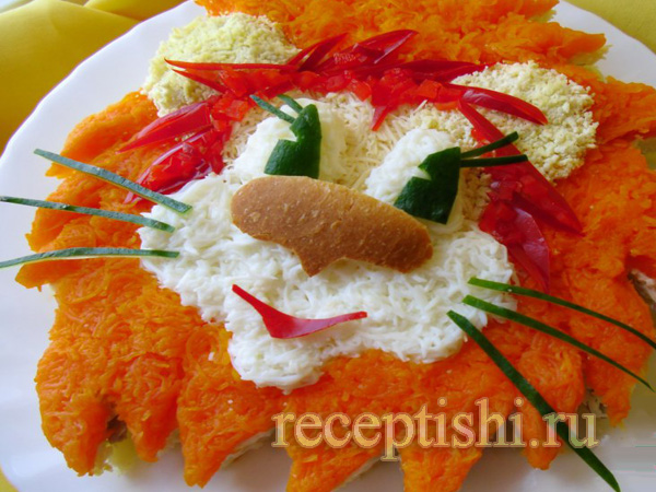 салат львенок рецепт