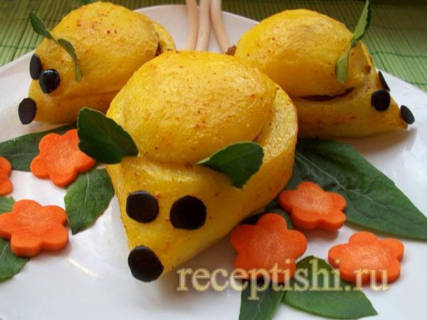 Фаршированные картофельные мышки