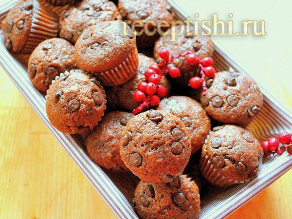 Маффины с творожно-шоколадной начинкой