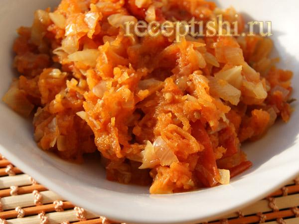 Овощная заправка из моркови, перца и томатов