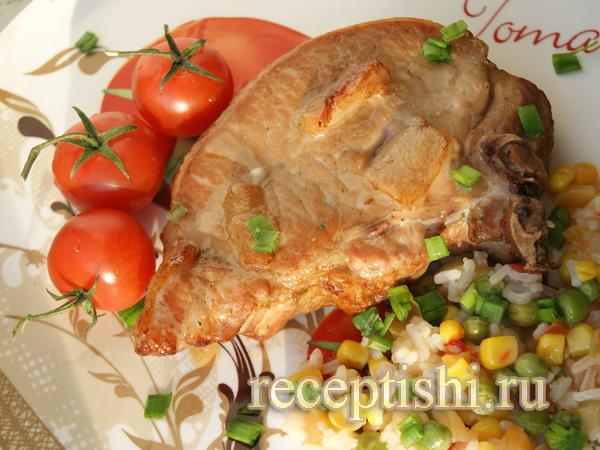 Свинина на косточке в духовке