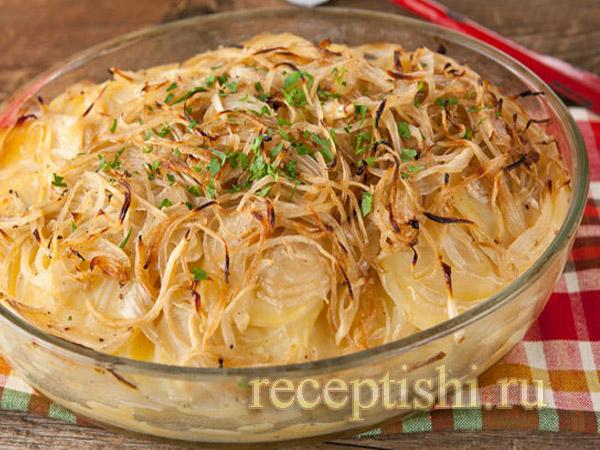 Картофель, запеченный в масле