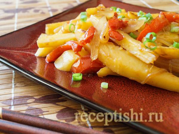Корейский жареный картофель