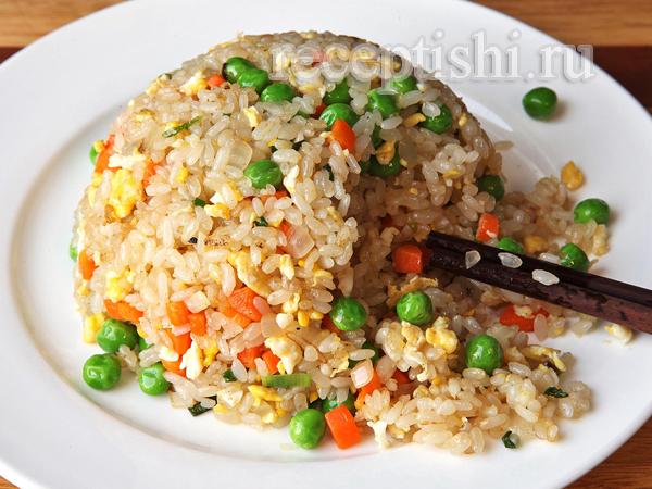 Рис с овощами на гарнир по-азиатски