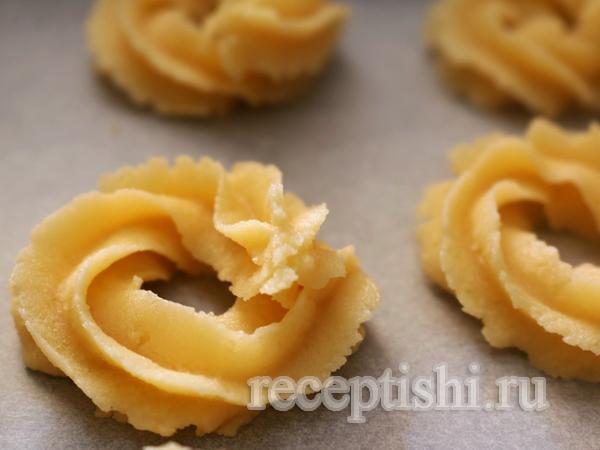 Датское масляное ванильное печенье
