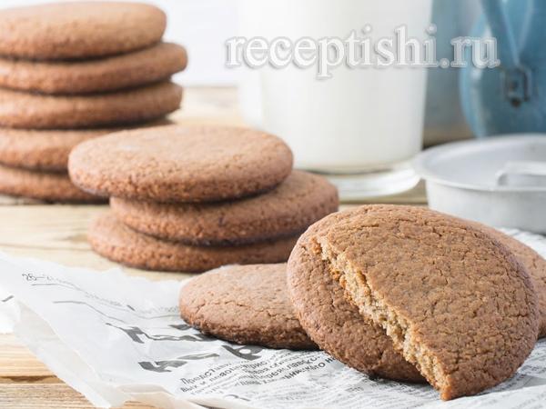 Овсяное печенье с изюмной пастой