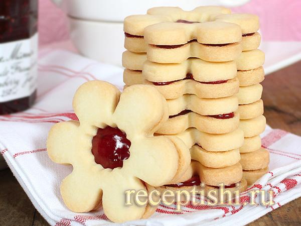 Печенье Курабье ромашковое