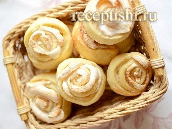 Печенье Розочки с белковой начинкой