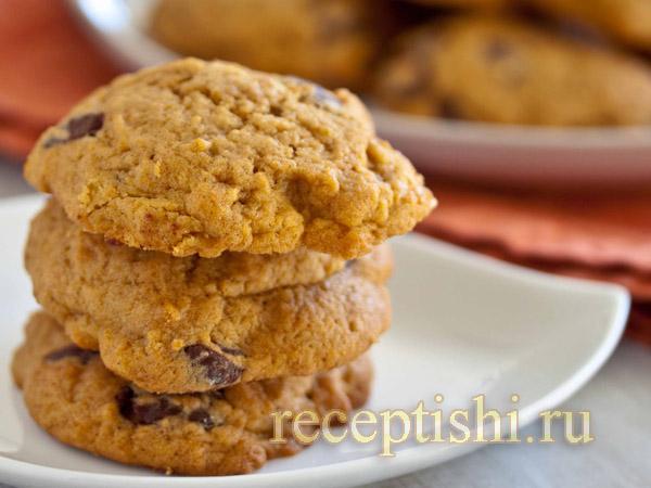 Тыквенное печенье с шоколадом и клюквой