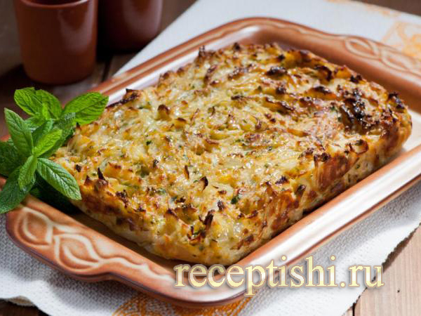 Быстрый капустный пирог для ленивых