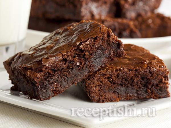 Пирожное Брауни с двойным шоколадом