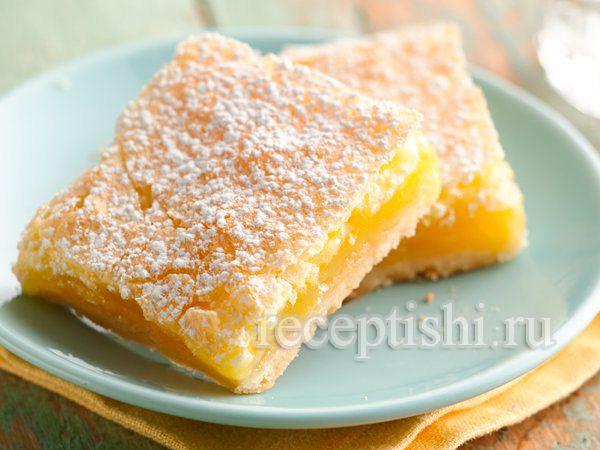 Пирожное Лимонные квадратики