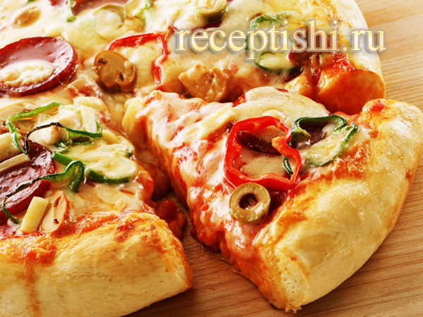 рецепт пышная пицца с фото