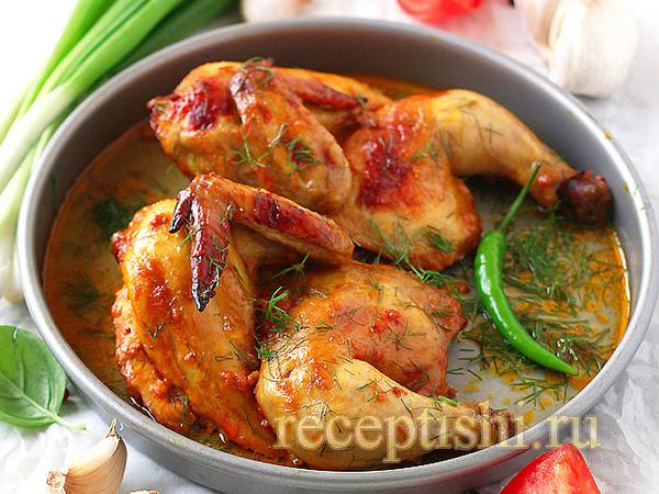 Курица с куркумой и паприкой