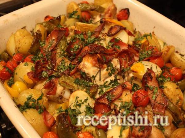 Рецепты из курицы с овощами
