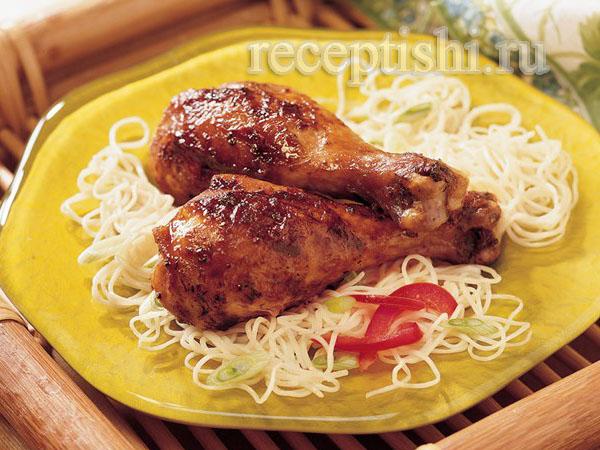 Жареные куриные ножки в соевом соусе