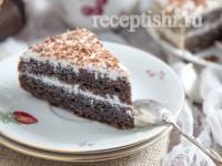 Торт черемуховый со сметанным кремом