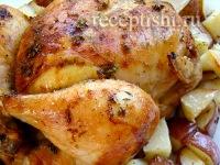 Цыпленок, запеченный с картофелем