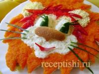 Детский салат Львенок