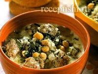 Довга (кисло-молочный суп с фрикадельками)