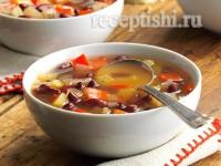 Фасолевый суп постный