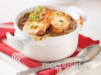 Французский луковый суп на мясном бульоне