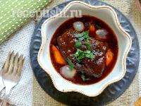 Рецепт Острые говяжьи ребрышки в красном вине