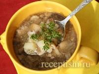 Грибной суп из лесных грибов
