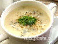 Грибной суп-пюре c шампиньонами