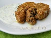 Белые грибы, жаренные в панировке