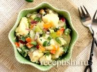 Картофельный салат со сладким перцем