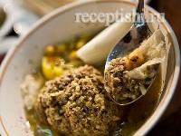 Кюфта-бозбаш (суп с рисовыми тефтелями)