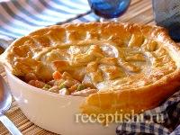 Куриный пирог с овощами в форме