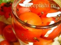 Маринованные помидоры с гвоздикой, без уксуса