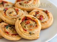 Рецепт Мини-пиццы из слоеного теста