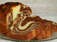Мраморный кекс на сгущёнке