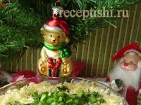 Мясной слоеный салат