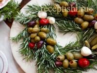 Новогоднее оформление закусок из консервов
