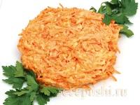 Острая закуска из моркови с сыром