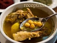 Парча-бозбаш (суп с бараниной и нутом)