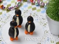 """Рецепт Новогодняя закуска """"Пингвины"""" из маслин"""