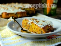 Пирог орехово-морковный сладкий