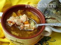 Рецепт Рыбный суп из головы и хребтов семги, форели, лосося