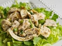 Салат из курицы с ореховым соусом