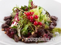 Салат из куриной печени в соусе Демиглас