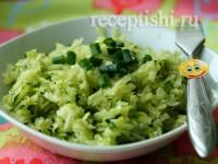 Салат из зеленой редьки с огурцом