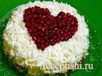 """Салат мясной """"Любящее сердце"""""""