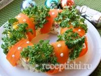 Салат Новогодний венок (Рождественский венок)