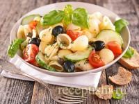 Салат-паста с овощами летний