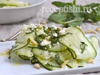 Рецепт Салат с кабачком, мятой и фетой